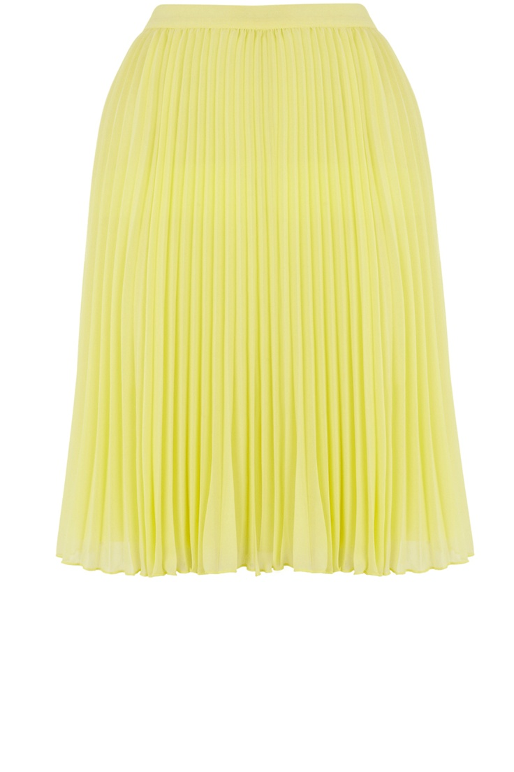 Oasis Skirts | Pale Yellow Pleated Skirt | Womens Fashion Clothing | Oasis Stores UK
