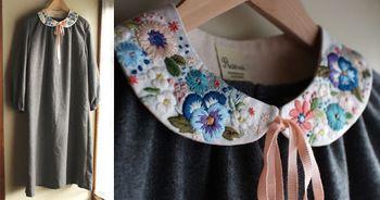 美しいフランス刺繍にうっとり。