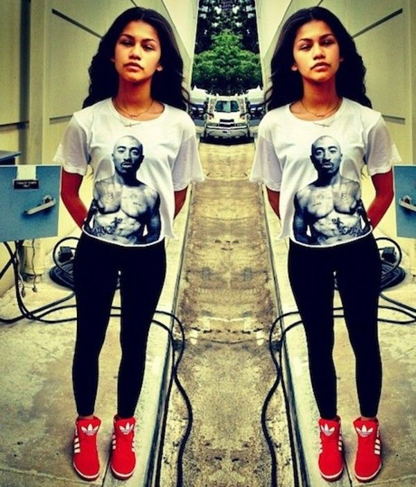 There are 16 tips to buy this shirt: zendaya black white tupac shoes  leggings cool s pants t- zendaya tupac swag dope top jeggings.