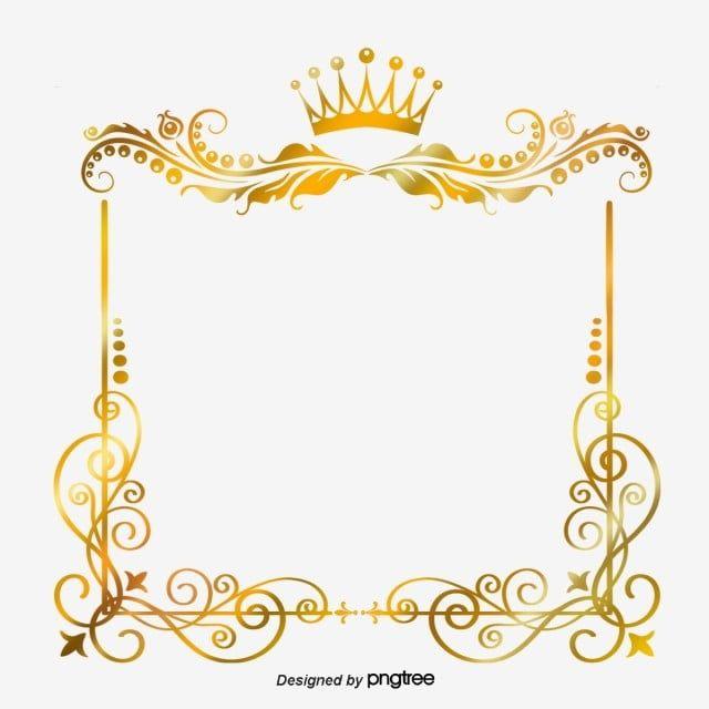 กรอบมงก ฎทองคำส เหล ยม ส เหล ยมผ นผ า การวาดภาพ ออกแบบภาพ Png และ Psd สำหร บดาวน โหลดฟร Gold Clipart Crown Frames Frame Clipart