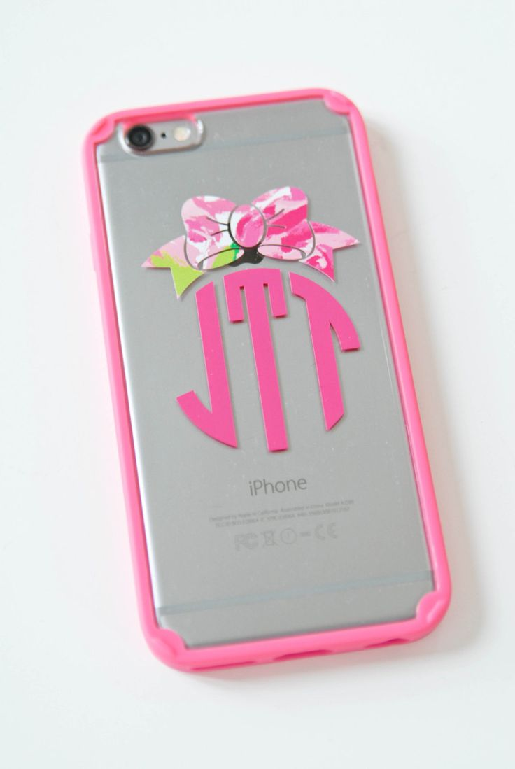 Personalized iPhone 6 or 6 Plus Case with Lily Pulitzer Inspired Bow by sweett655 on Etsy https://www.etsy.com/listing/223693634/personalized-iphone-6-or-6-plus-case