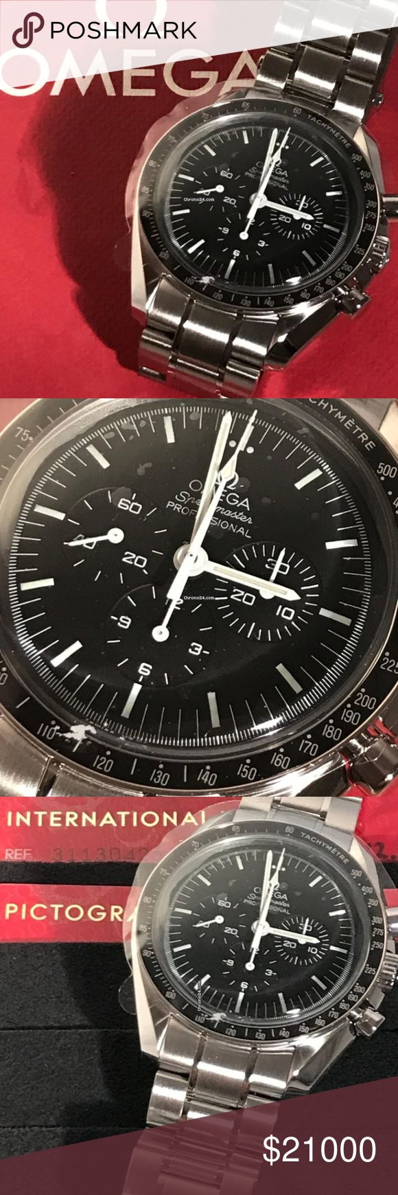 Omega Speedmaster Professional Moonwatch Condition:	New Scope of delivery:	New, With box, With papers Availability:	Ready to ship in 6-10 days Delivery time: 2-3 weeks up to 6 weeks  BASIC INFO Brand	Omega Model	Speedmaster Professional Moonwatch Ref. No.	311.30.42.30.01.005 Chrono24-ID	40ptx2 Movement	Manual winding Case material	Steel Bracelet material	Steel Year	2018 Condition	0 (unworn)  	New  	With box  	With papers Gender	Men's watch/Unisex Location	, Florida, USA Availability	Ready to…