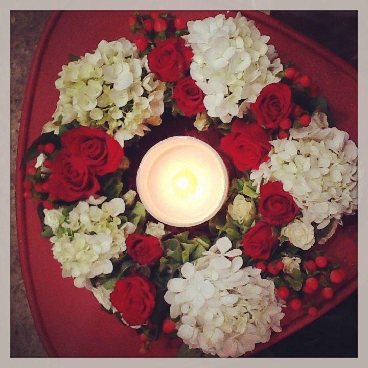 A candle is a great addition to a wreath. www.fleurus.com.au