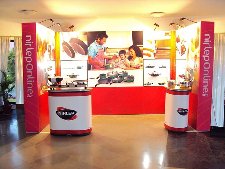 Portable Modular Exhibition Stand for Nirlep. Know about our products and services http://www.insta-group.com/