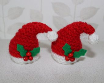 Hand knitted Santa hat covers for ferrero rocher chocolate x 2