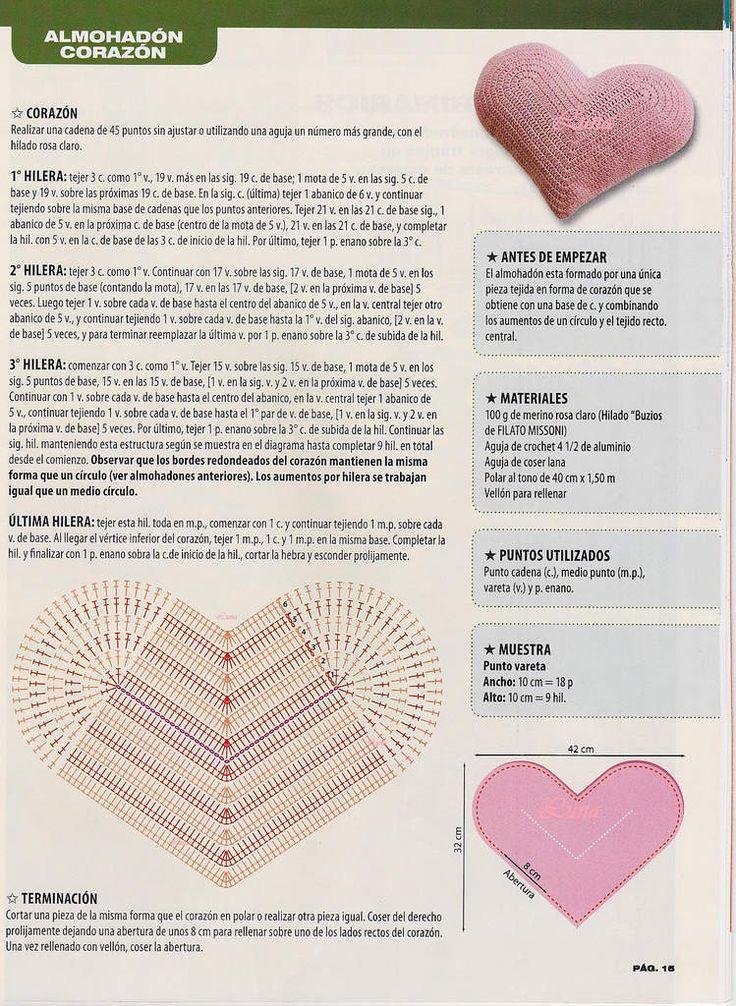 Lujo Modelo Del Corazón De Ganchillo Colección de Imágenes - Manta ...