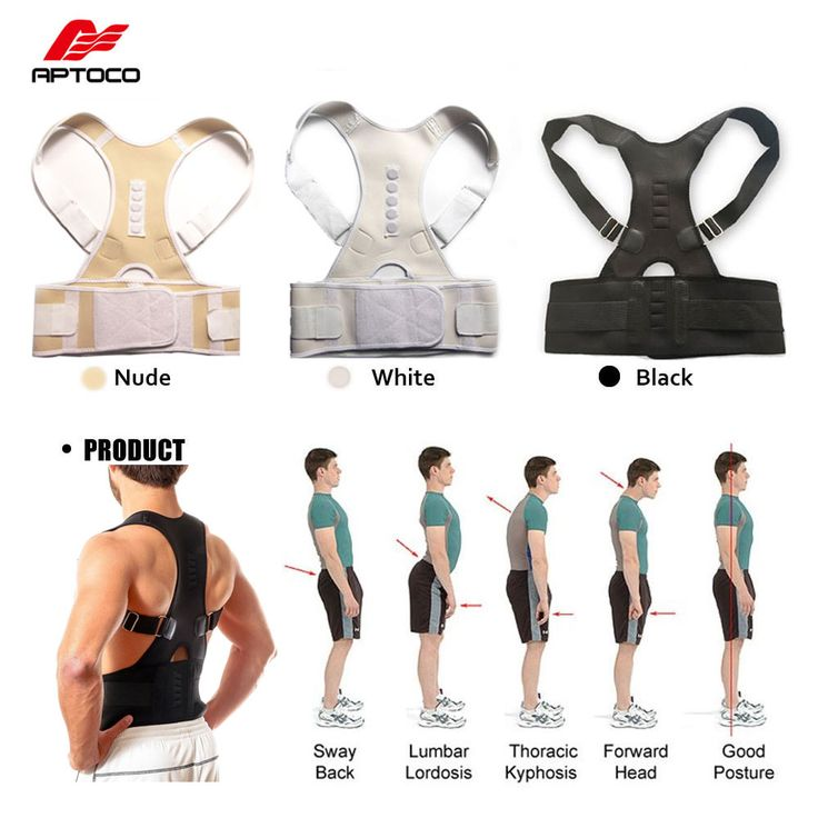 Male Female Adjustable Magnetic Posture Corrector Corset Back Men Brace Back Belt Lumbar Support Straight Corretor for Posture #clothing,#shoes,#jewelry,#women,#men,#hats,#watches,#belts,#fashion,#style