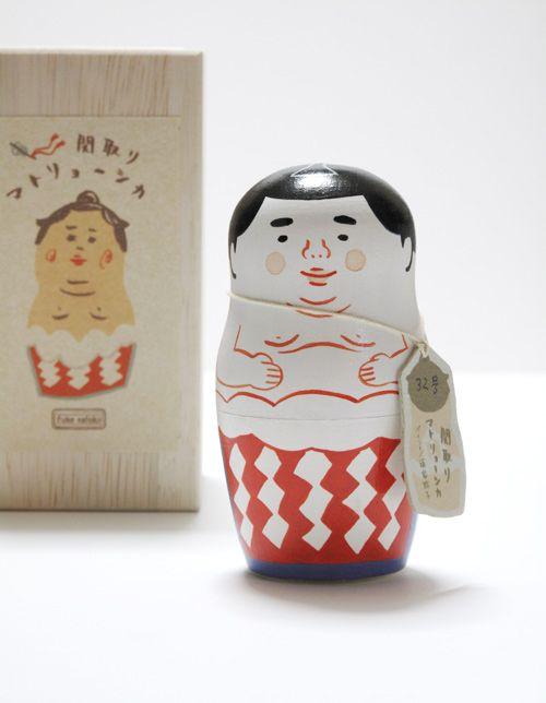 Sumo matryoshka doll