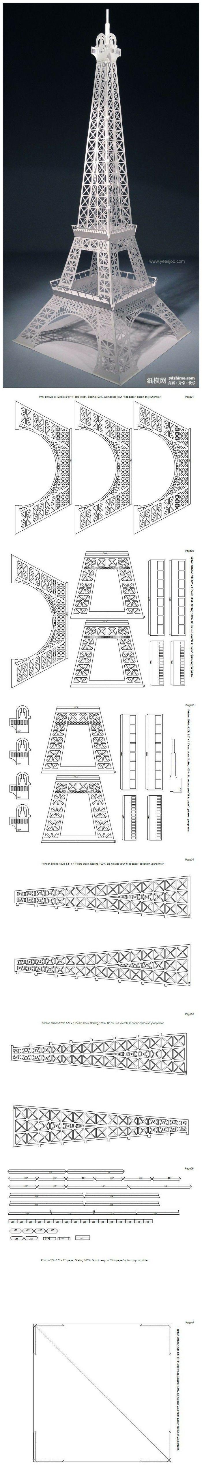 Krachtige productie --3D Eiffeltoren
