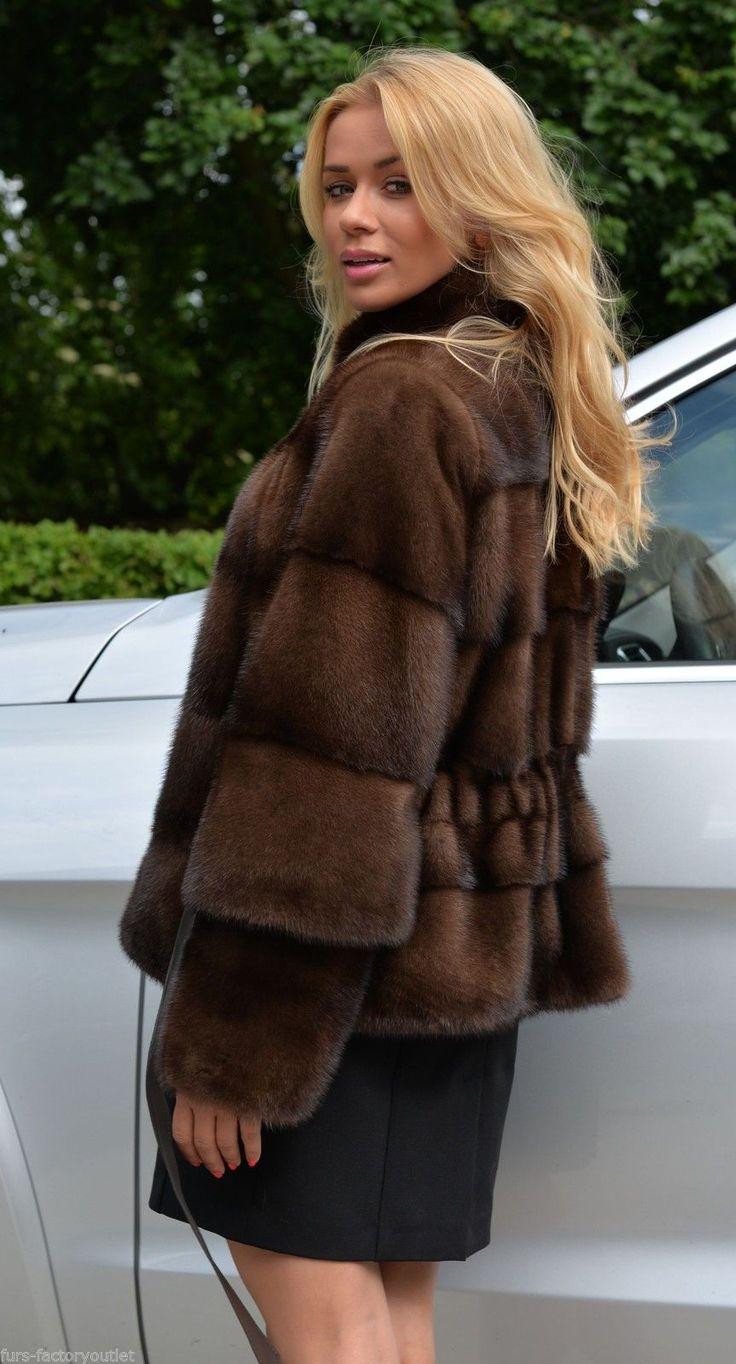 2015 Gianotti Sable Color Royal Saga Mink Fur Jacket Class Chinchilla Coat Vest | eBay