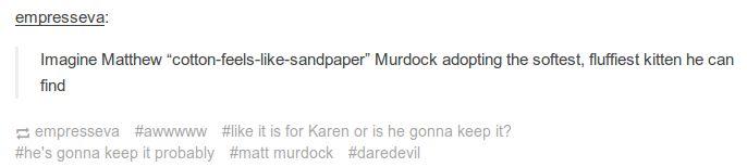 matt murdock/daredevil text post