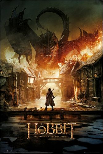 Filmplakat von The Hobbit - Battle of Five Armies Smaug