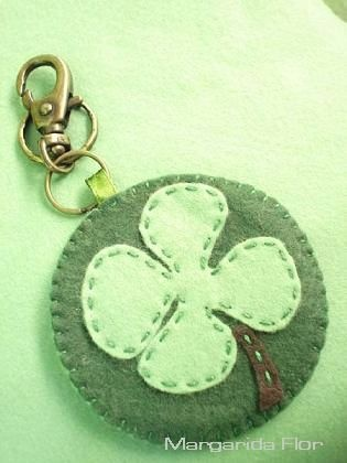 Felt Key Chain #goodluck