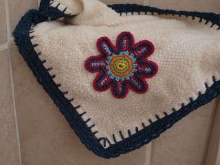 Randje om een handdoek haken, met patroon