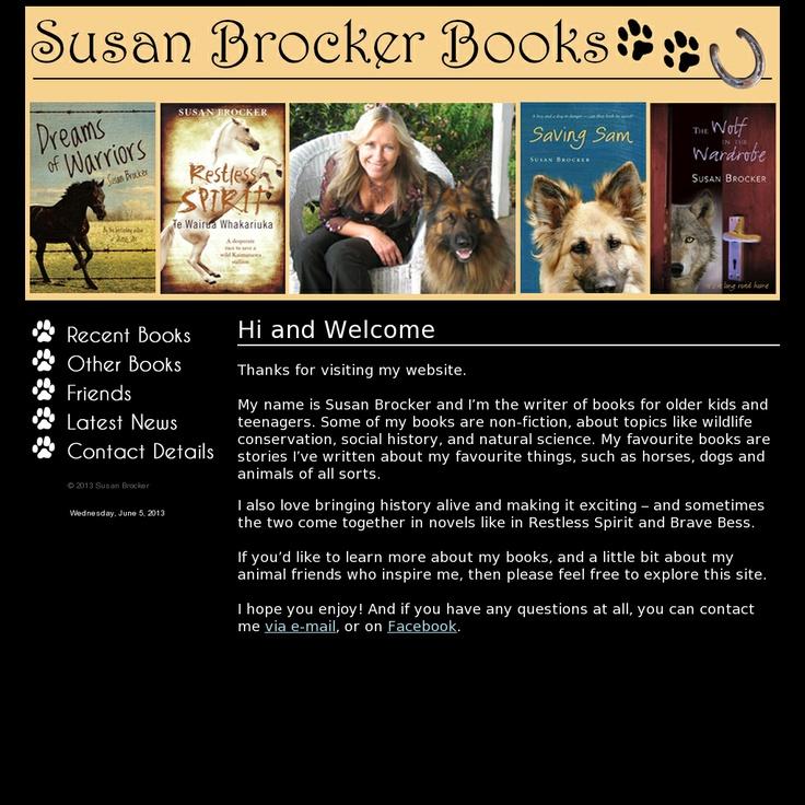Website http://www.susanbrocker.com/ snapped on Snapito!