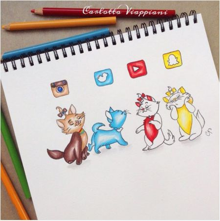 SocialMedia Cats... They are cute.. Instagram Twitter