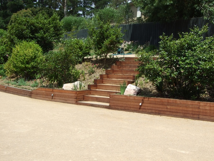 steps up to top lawn