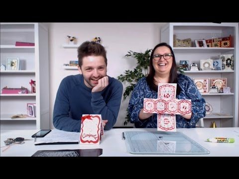 How to make a Twist and Pop Card - Tonic Studios Live Papercraft Tutorial - YouTube