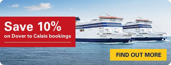 Save 10% on Dover-Calais crossings