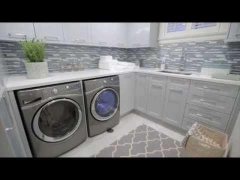 ▶ Dreamy Blue-Grey Laundry Room - YouTube