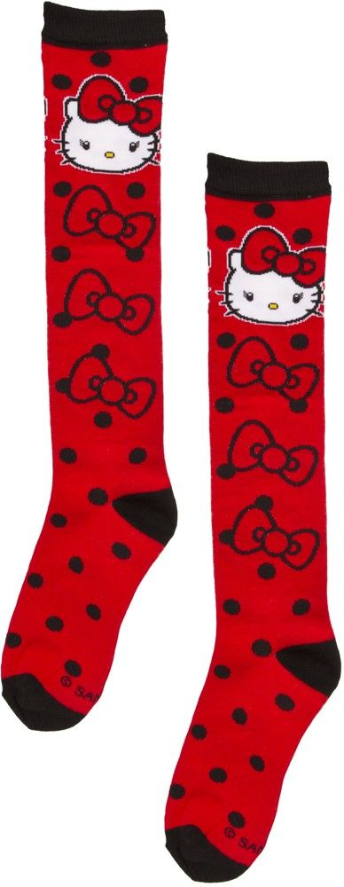 HELLO KITTY DOTS BOWS SOCKS