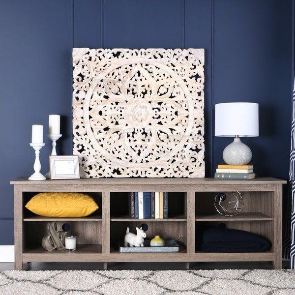 70-inch Essentials Driftwood TV Stand