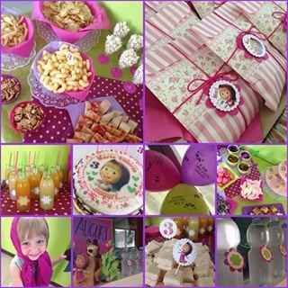 masha and the bear birthday decorations - Pesquisa Google