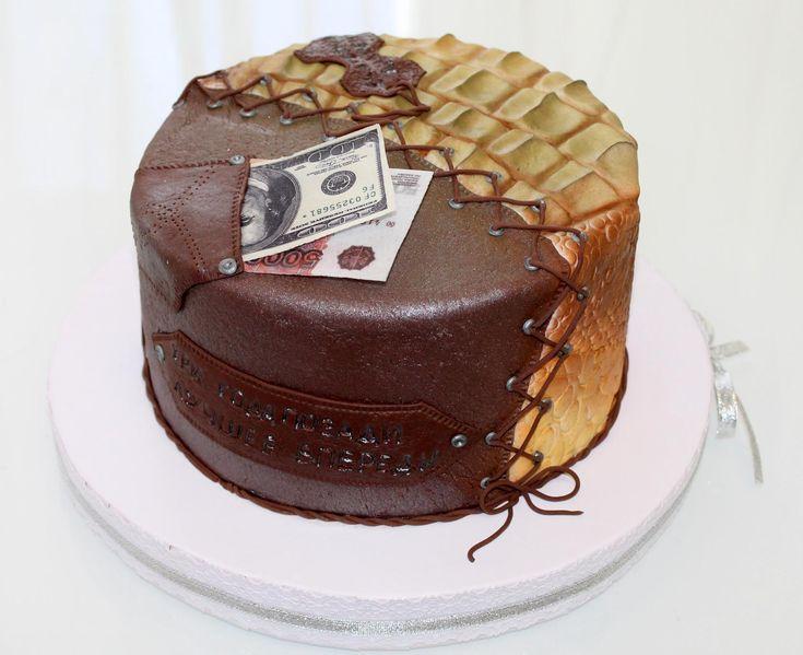 Торт на 3 годовщину свадьбы (кожаная свадьба)