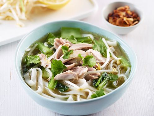 Waitoa - Chicken rice noodle soup & Asian greens