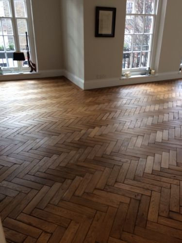 reclaimed parquet flooring: I think this would look good in the lounge and our bedroom with nice rugs.