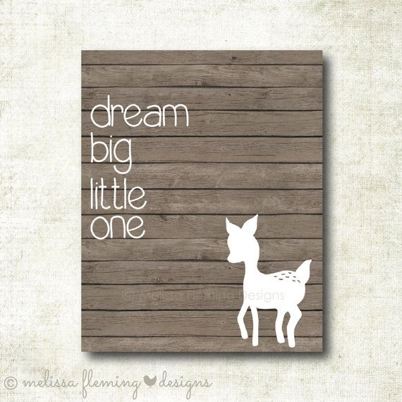 Dream big little one, Gender Neutral Nursery Art Print (GN7) on Etsy, $7.00