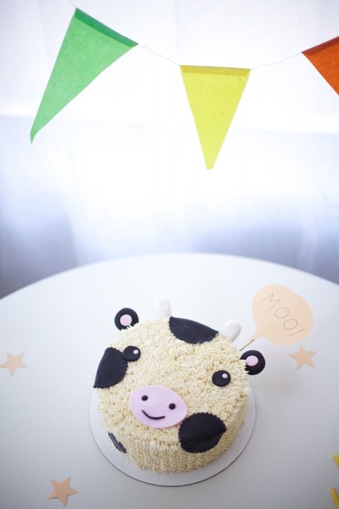 how to make a cow cake tutorial - coco cake land