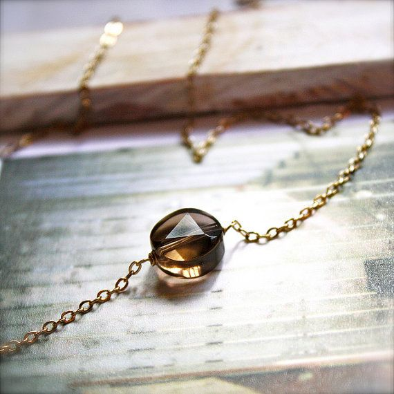 Penny -- Smoky Quartz Necklace: Etsy Favs, Quartz Necklace, 5Th Ave, Jewelry Accessories, Fashion Accessories, Diy Favourites, Jewelry Ideas, Craft Ideas, Beautiful Things