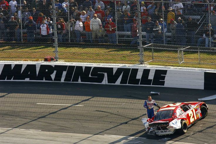 Martinsville mayhem: Years of crumpled cars  By George Winkler | Wednesday, March 29, 2017  Oct. 22, 2006: That's no way to treat a Little Debbie (Ford), Ken Schrader -- who finished 41st thanks to this mess.  Photo Credit: Getty Images  Photo: 13 / 17