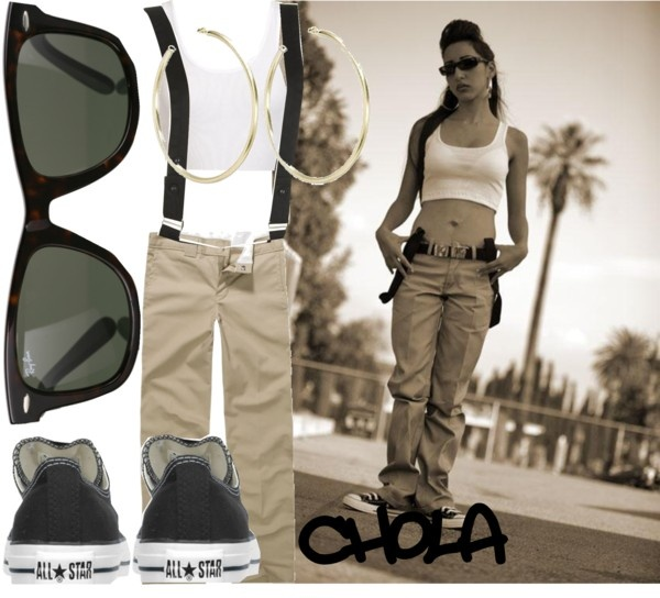 """chola life."" by rubyy1 ❤ liked on Polyvore"