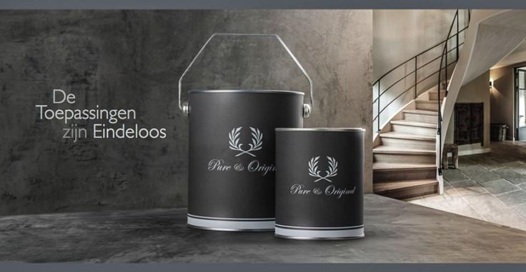 For the most beautiful interiors use Pure & Original. Voor de mooiste interieurs gebruik je Pure & Original