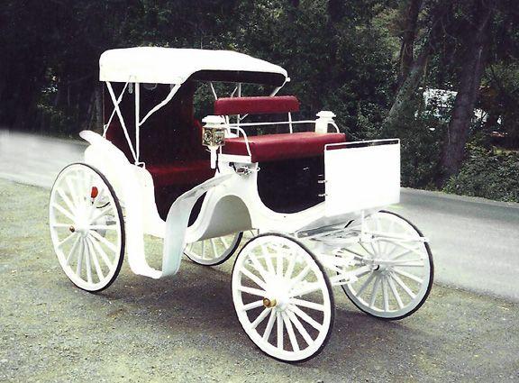 Horse Drawn White Victoria Carriage