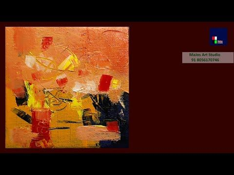 Simple abstract painting for beginners. Satisfying | Demo # 4 – YouTube