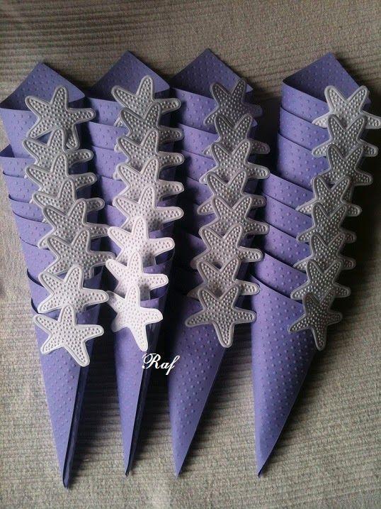 Creazioni di Raf - Wedding creations : Coni portaconfetti per un matrimonio…