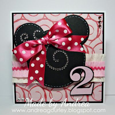 Playing With Paper - Andrea's Blog: Minnie Mouse Birthday Card ...