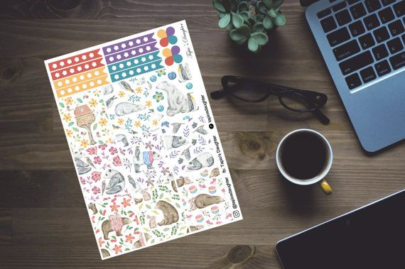 Erin Condren planner stickers bears full boxes by TapiosDaughter