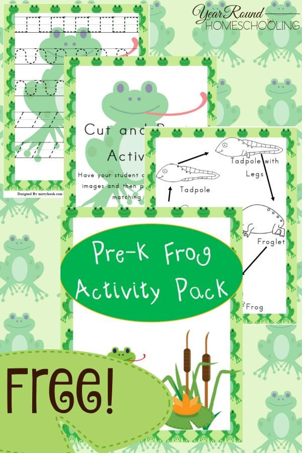 Free Pre-K Frog Activity Pack - Year Round Homeschooling