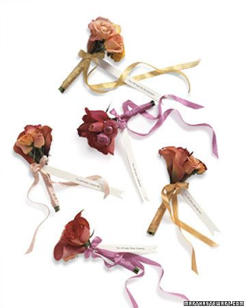 Fortune Bouquets - for the bouquet toss - lots of little bouquets held together as one until you toss & each has a fortune!