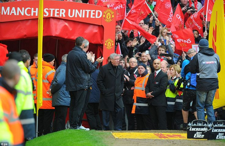 Ferguson was greeted by his fans after announcing his retirement from the game earlier this week