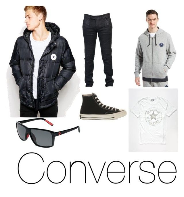 """Converse"" by jason-becz ❤ liked on Polyvore featuring Converse, Balmain, men's fashion y menswear"