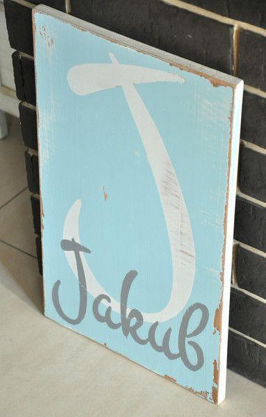 J jak Jakub - tablica drewniana - OLDTREE - Ozdoby na ścianę