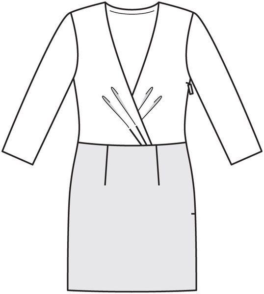 Numer Wzór 127 Magazyn 12/2012 Burda - - Sukienka wzory na sukienki Burdastyle.ru