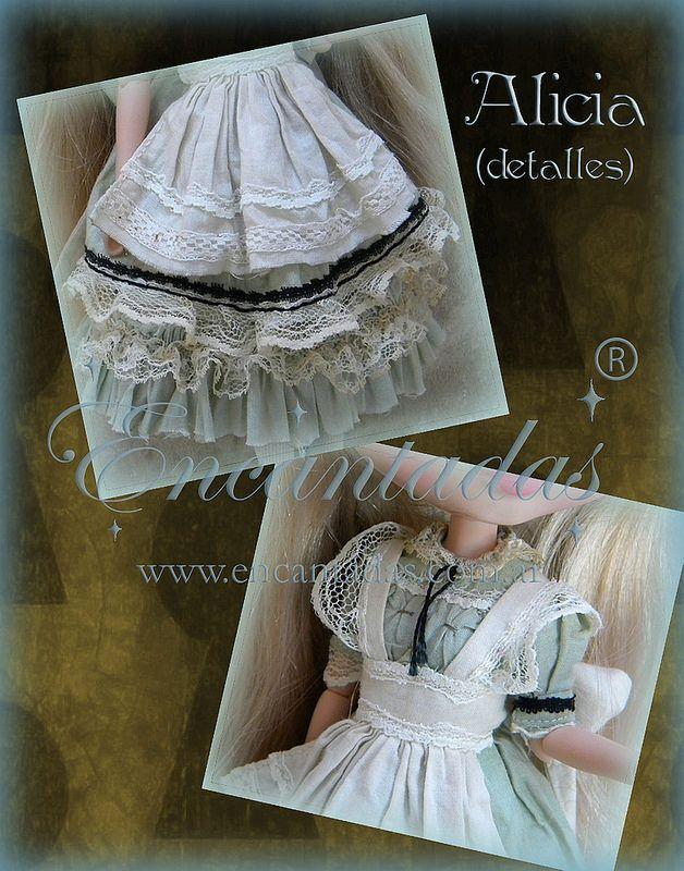 Alicia outfit para Blythe - Diseñado y confeccionado a pedido (detalles)