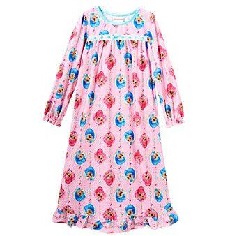Nickelodeon Girls' 4-8 Shimmer And Shine 3 Pajamas