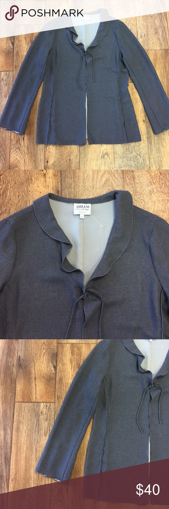 Armani Gray Open Cardigan Just cleaned! In perfect condition! Armani Collezioni Sweaters Cardigans